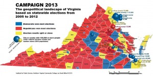 VA geopolitical map for election 2013